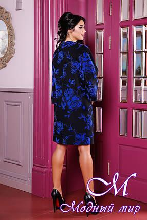 Женское осеннее пальто пальто большого размера (р. 44-54) арт. 1052 Тон 2, фото 2