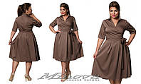 Платье из полированного коттона (размеры 50-56)