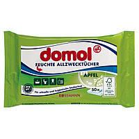 Domol Feuchte Allzwecktücher Apfel - Влажные универсальные салфетки для уборки с ароматом яблока, 50 шт.