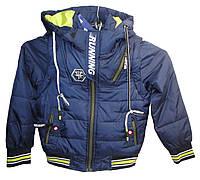 Куртка для мальчика wk-A19 с капюшоном на змейке начальная школа (деми)
