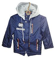 Куртка для мальчика wk-A22 с капюшоном на змейке начальная школа (деми)