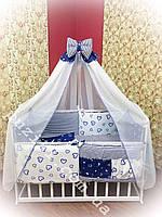 Комплект постельного белья для детской кроватки 8 в 1, Бонна