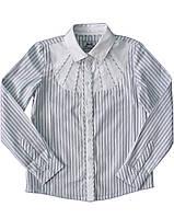 BoGi.Блузка для дівчинки довгий рукав сіра смужка 101.004.0176.02