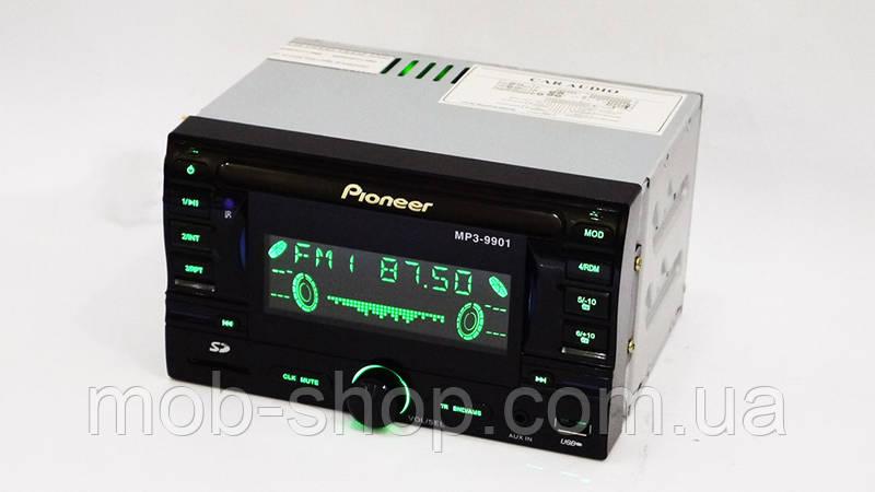 Автомагнитола пионер Pioneer 9901 2din USB SD AUX пульт RGB подсветка