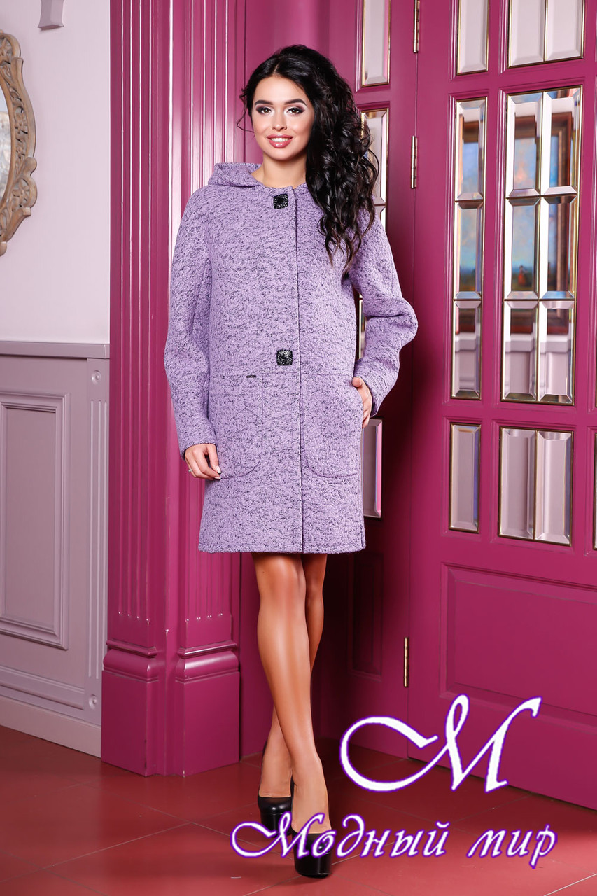 Женское осеннее пальто большие размеры (р. 44-62) арт. 1049 Тон 21