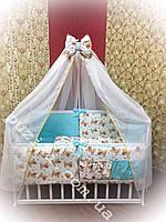 Комплект постельного белья для детской кроватки с собачками, 8 в 1 Бонна