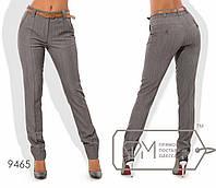 Стильные женские брюки серого цвета с ремешком (2 цвета) VV/-045