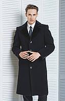 Пальто  мужское зимнее элегантное, полуприлегающего силуэта