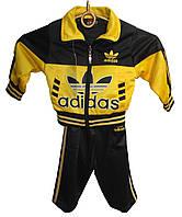 Костюм спортивный на мальчика 2016 с капюшоном adidas 1-5 лет бебик (деми)