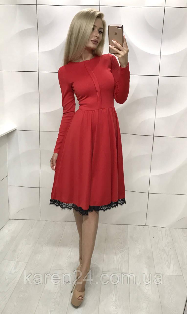 529f849227a76ab Платье миди с расклешенной юбкой Milena, красное ! - Интернет-магазин