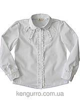 BoGi. Блуза для дівчинки біла довгий рукав.101.034.0209.01