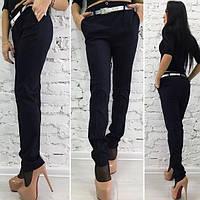 Черные стильные женские брюки классика в мелкую полосочку. Арт-1367/27