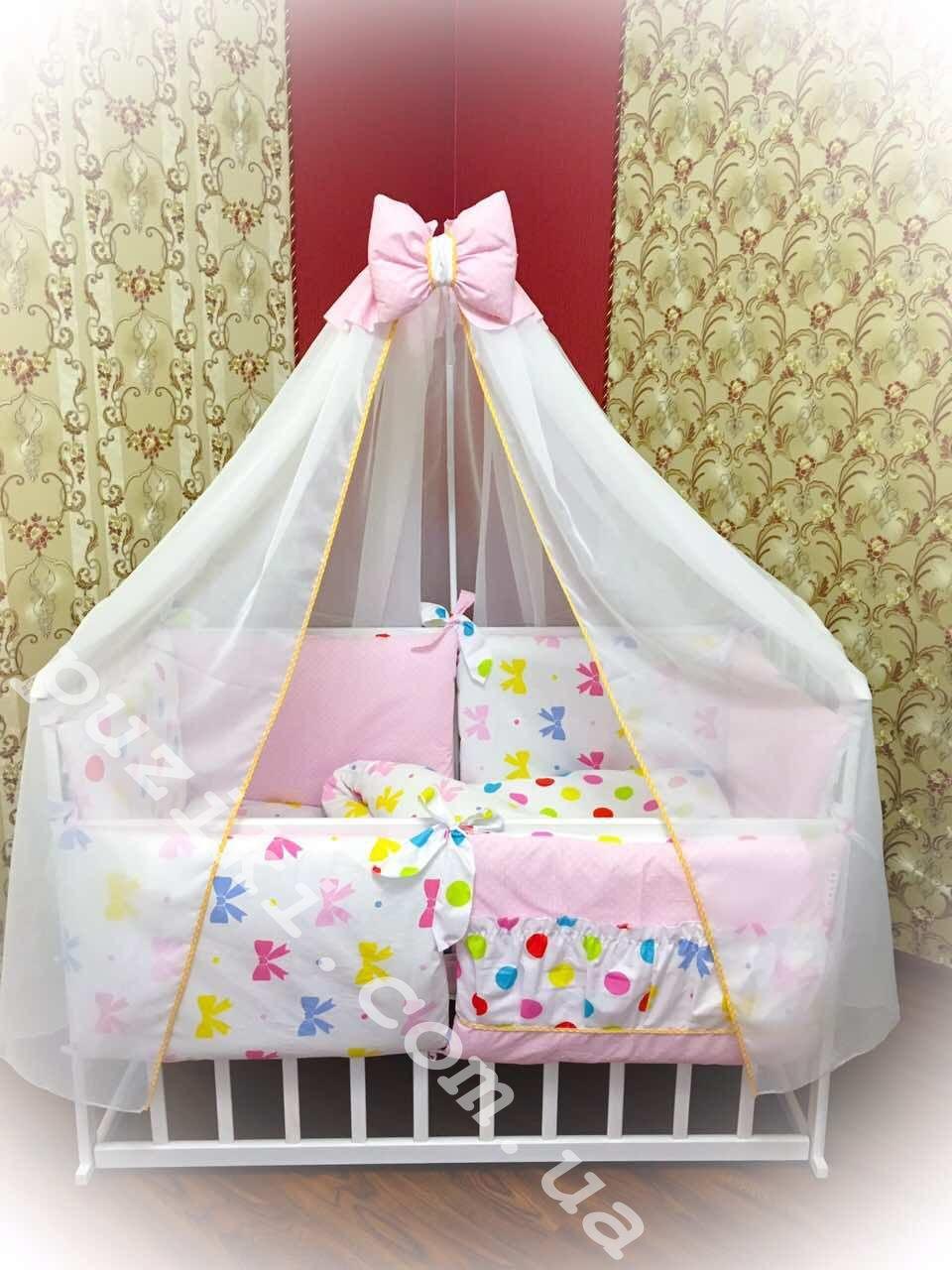 Комплект белья в кроватку для девочки, 8 в 1 Бонна