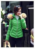 Женская короткая зимняя куртка с мехом. Модель 6378., фото 2