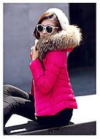 Женская короткая зимняя куртка с мехом. Модель 6378., фото 3