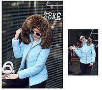 Женская короткая зимняя куртка с мехом. Модель 6378., фото 4