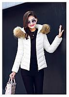 Женская короткая зимняя куртка с мехом. Модель 6378., фото 5