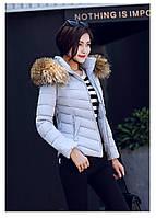 Женская короткая зимняя куртка с мехом. Модель 6378., фото 7