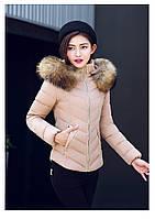 Женская короткая зимняя куртка с мехом. Модель 6378., фото 8
