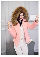 Женская короткая зимняя куртка с мехом. Модель 6378., фото 9