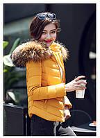 Женская короткая зимняя куртка с мехом. Модель 6378., фото 10