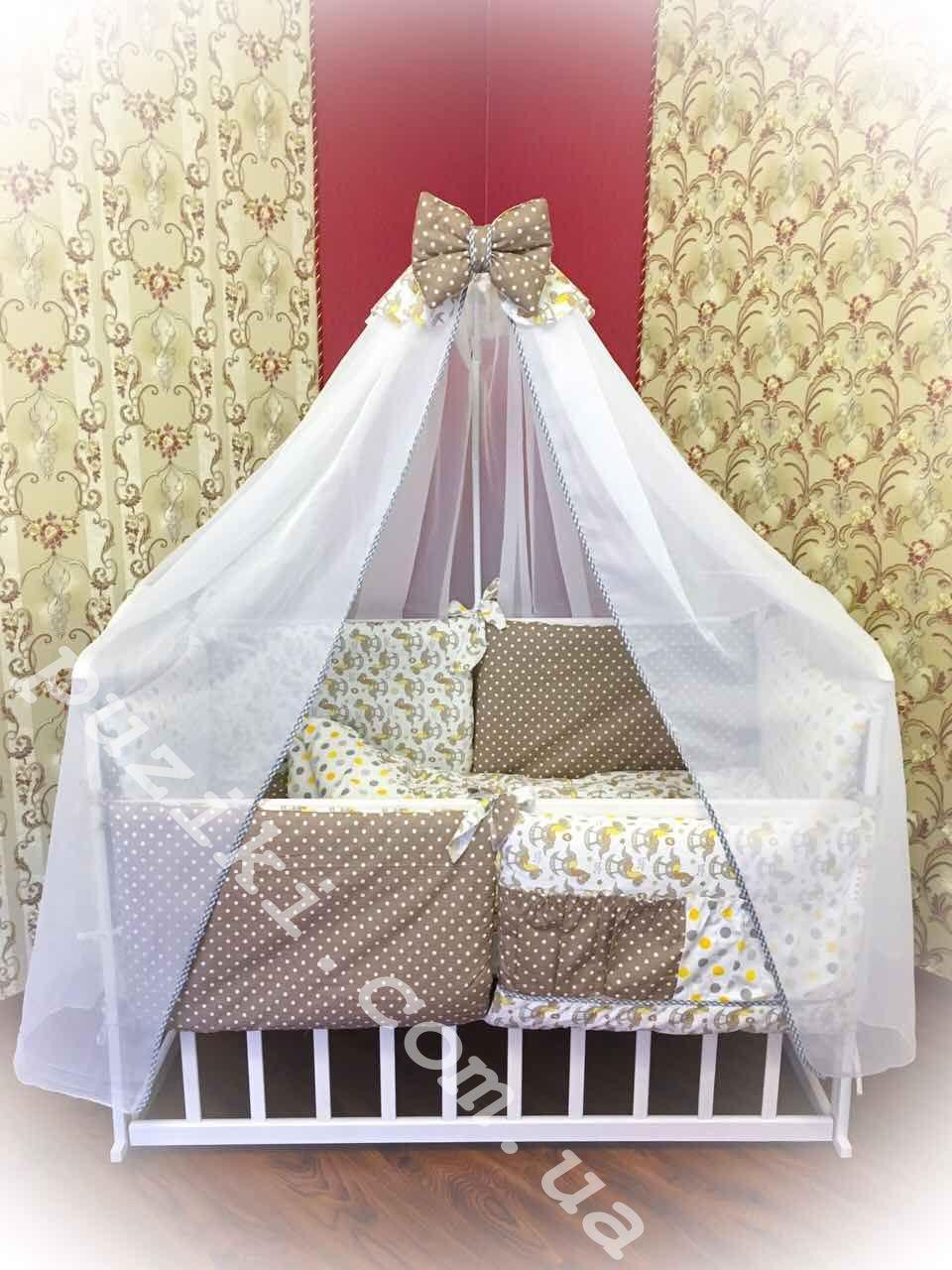 Детский постельный набор в кроватку, 8 в 1 Бонна