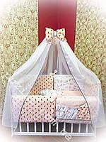 Детский постельный набор в кроватку, 8 в 1 Bonna