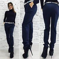 Темно синие стильные женские брюки классика. Арт-1367/27