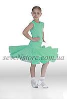 Рейтинговое платье Бейсик для бальных танцев Sevenstore 9106 Мята