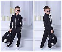 """Костюм двойка """"Adidas"""", девочка+мальчик. Чёрный, 2 цвета."""