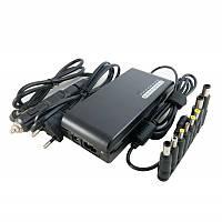 Блок питания для ноутбука универсальный Extradigital ED-100W2437, Black, 100W, 1xUSB (5V / 1A), DC: 15V/16V/18V/19V/20V/21V/22V/24V, 8 переходников,,