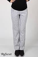 Теплые и очень удобные спортивные брюки для беременных из плотного трикотажа трехниткас начесом, прямого фасо