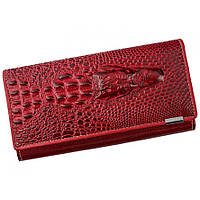 Женский кожаный кошелек Loren 72033-CRO Red