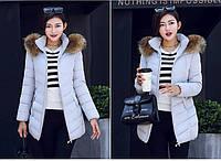 Женская зимняя куртка с мехом. Модель 6379., фото 3