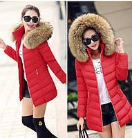 Женская зимняя куртка с мехом. Модель 6379., фото 4