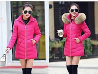 Женская зимняя куртка с мехом. Модель 6379., фото 5