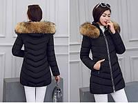 Женская зимняя куртка с мехом. Модель 6379., фото 6