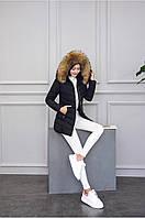 Женская зимняя куртка с мехом. Модель 6379., фото 7