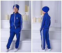 """Костюм двойка """"Adidas"""", девочка+мальчик. Синий, 2 цвета."""