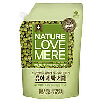 Гель для стирки детской одежды NatureLoveMere с экстрактом бобов мунг, 1300мл. (мягкая упаковка)