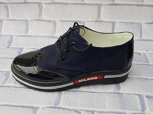 Туфли для девочек на шнурках