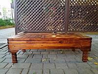 Чайный стол большой 80*45см раскладные ножки и полки для посуды, Чабань