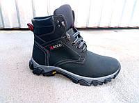 Подростковые кожаные зимние ботинки ECCO 35-39