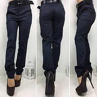 Черные женские классические брюки с ремнем. Арт-1375/27