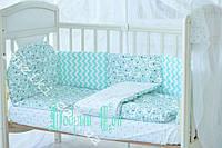 Комплект детского постельного для новорожденных, 8 предметов