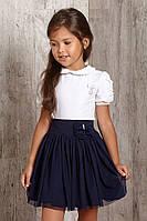 Пышная школьная фатиновая  юбка  для девочки