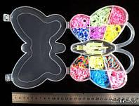 """Набор резинок для плетения браслетов и поделок в коробке """"Бабочка"""""""