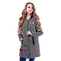 Женское модное пальто из твида, фото 1