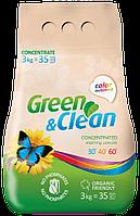 Стиральный порошок без фосфатов Green&Clean для цветного белья, 3 кг (35 стирок)