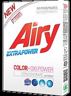 Бесфосфатный порошок для цветного белья Airy + усилитель порошка Wells Natural OXI POWER, 400 г